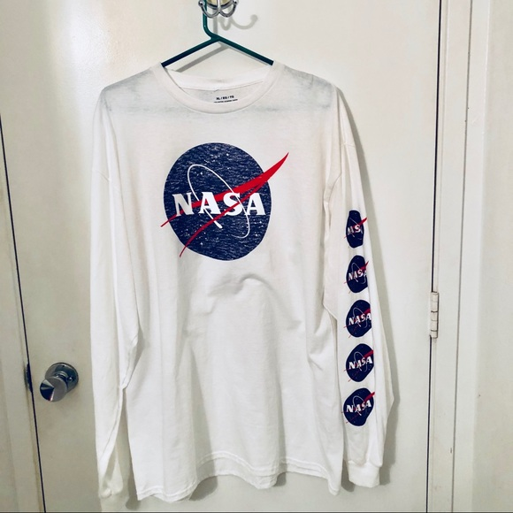 92f30dcb Shirts | Nwt Nasa Long Sleeve Mens Tee Shirt Size Cl | Poshmark